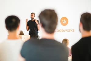A live coding class at a Codeworks bootcamp