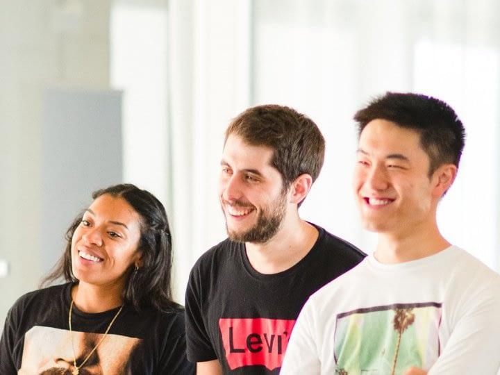 Codeworks students enjoy a group presentation