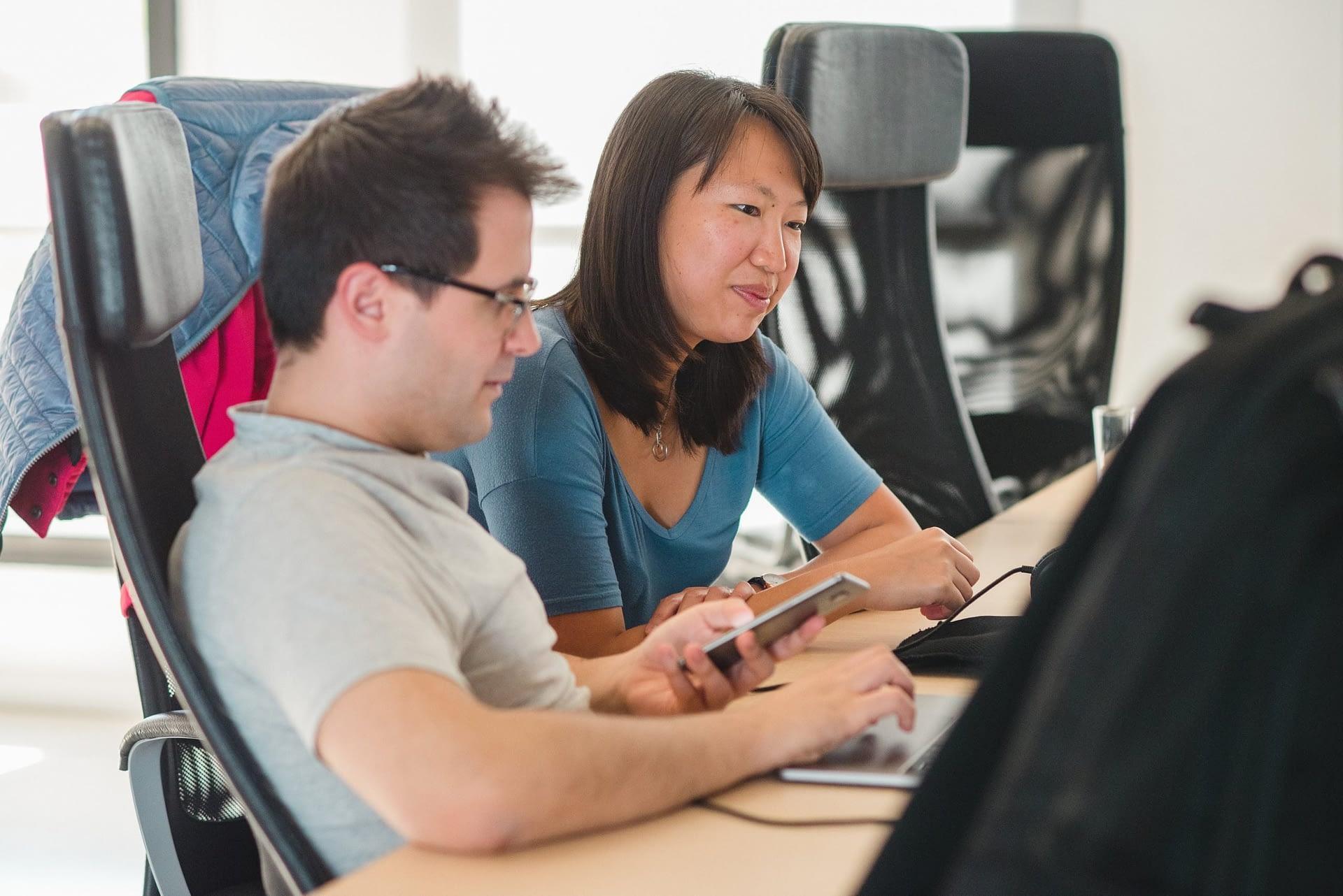Pair programming at a coding bootcamp